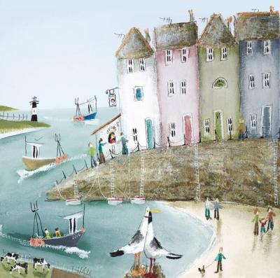 Across the Bay II - Canvas by Rebecca Lardner