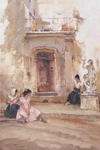Ancient Doorway, Cordes by Russell Flint
