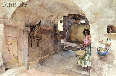 Antoinette's Alley, Vaugelas by Russell Flint