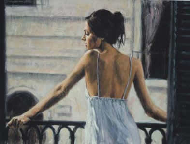Balcony At Buenos Aires II (Board) by Fabian Perez