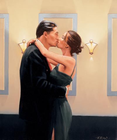 Betrayal- First Kiss by Jack Vettriano