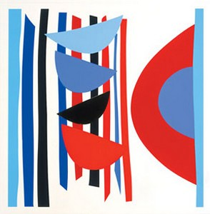 Blue Red Black Vertical Rhythm