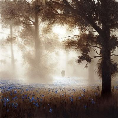 Bluebell Dawn by John Waterhouse