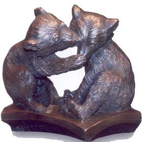 brown-bear-cubs-bronze-resin-3277