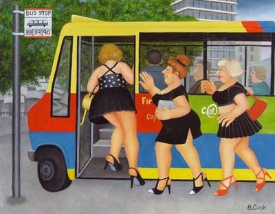 Bus Stop by Beryl Cook