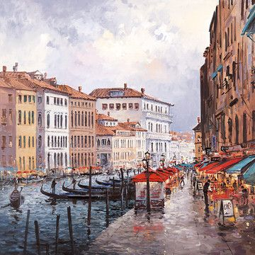 Cafe On The Grand Canal by Henderson Cisz