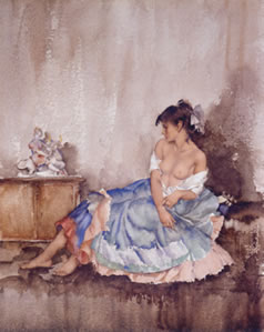 Cecilia Contemplating Europa by Russell Flint