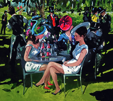 Champagne On The Lawn by Sherree Valentine Daines
