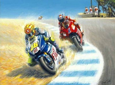 Coming Through (Valentino Rossi taking Casey Stoner) small