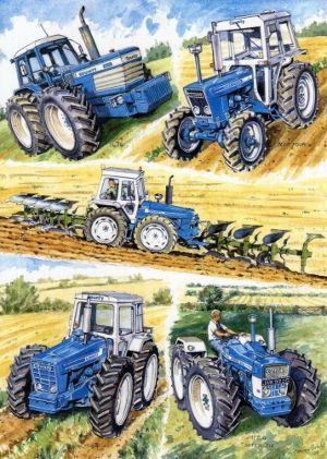 County Tractors by Steven Binks