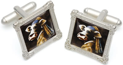 cow-with-a-pearl-earing-cufflinks-12421