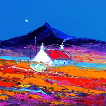 Croft and Boat, North Uist