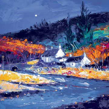 Crofts At Aros Bridge Isle Of Mull by John Lowrie Morrison