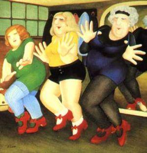 Dancing Class by Beryl Cook