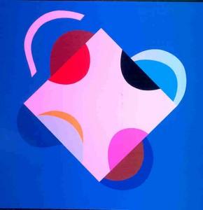 Development Of A Square - Blue