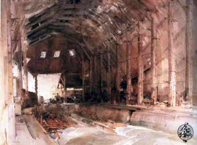 Devonport Dockyard No.1 Slipway by Russell Flint