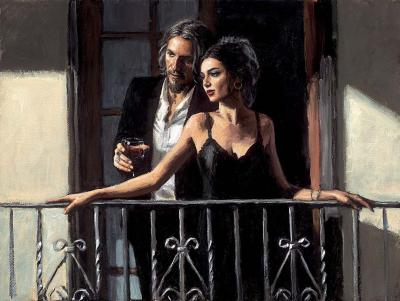 Fabian & Lucy At Balcony ii by Fabian Perez