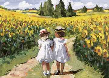Field Of Sunflowers by Sherree Valentine Daines