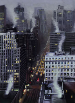 First Off The Lights (Box Canvas) by James Blinkhorn