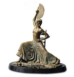 flamenco-dancer-with-fan-bronze-17702