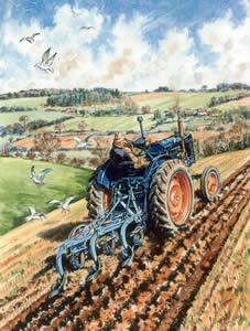 Fordson E27N Ploughing by Steven Binks