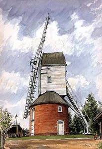 Framsden Post Mill, Suffolk by Steven Binks