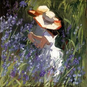 Gathering Bluebells by Sherree Valentine Daines