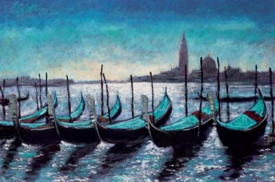 Gondolas at Rest by Timmy Mallett