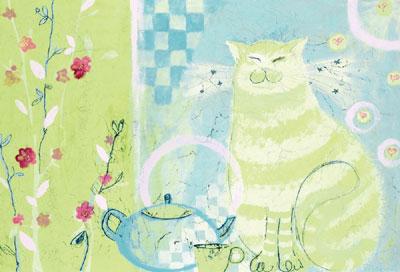 Green Tea Delight by Helen Rhodes