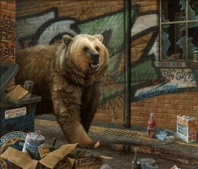 Grizzly - Canvas by Paul James