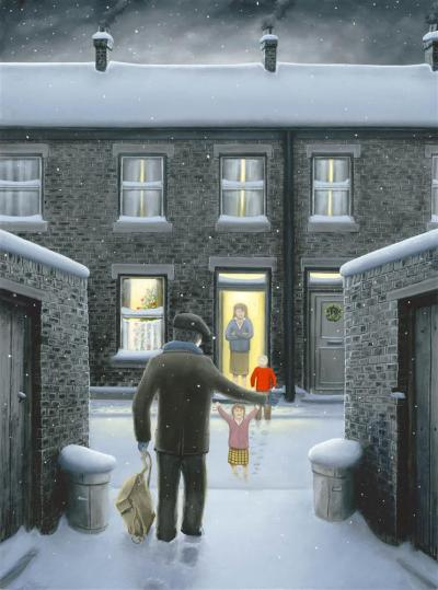 Home for Christmas- Canvas by Leigh Lambert
