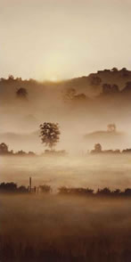 Homestead On The Hill by John Waterhouse