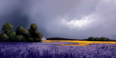 Indigo Landscape by Barry Hilton