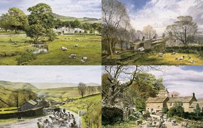 Ingham's England -  The Dales Portfolio (Set of 4)