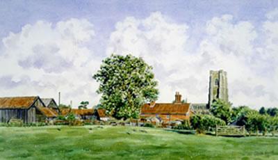 Lavenham Hall Farm, Suffolk by Steven Binks