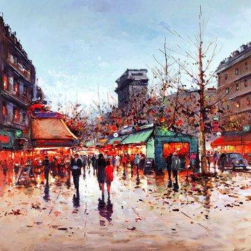 Lights Of Paris by Henderson Cisz
