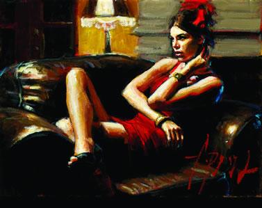 Linda In Red III by Fabian Perez