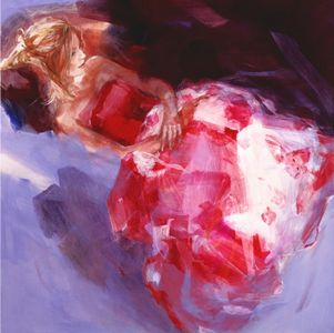 Little Secret - Canvas by Christine Comyn