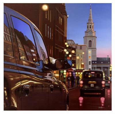 London Dusk Reflections - Canvas