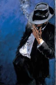 Man In Black Suit by Fabian Perez