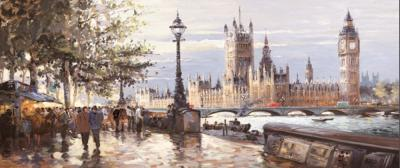 Morning On The Embankment by Henderson Cisz