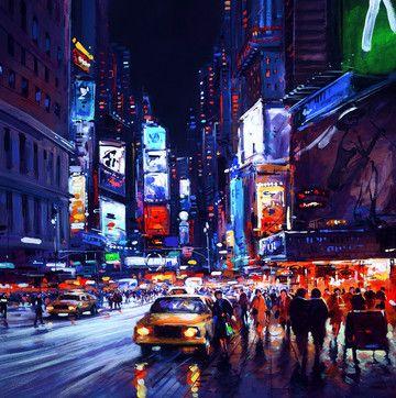 New York By Night by Henderson Cisz
