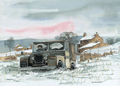 No Through Road, In Snow - Landrover small