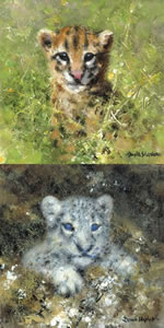 Ocelot & Snow Leopard Cubs - Mini Collection small
