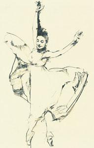 Ondine - Margot Fonteyn by Robert Heindel