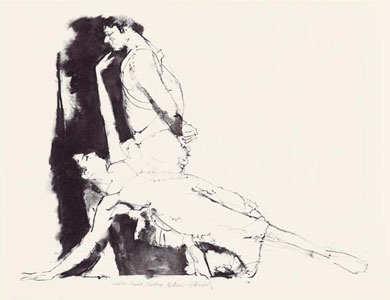 Pas De Deux by Robert Heindel
