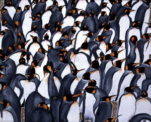 Penguins In The Crowd