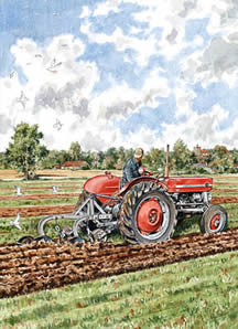 Ploughing With a 135 by Steven Binks
