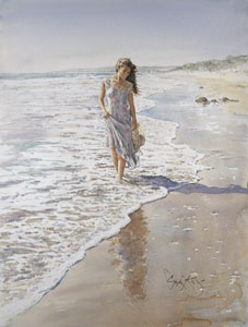 Reflections In The Sand by Gordon King