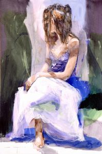 Relaxing  - Canvas by Christine Comyn